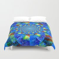 kaleidoscope Duvet Covers featuring Kaleidoscope  by haroulita
