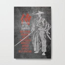 Samurai Virtues Metal Print