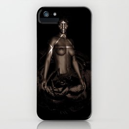 Black Queen Artistic Nude African American Woman  Rose  iPhone Case