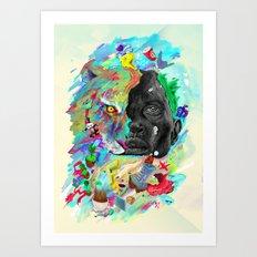 Hemisferios Art Print