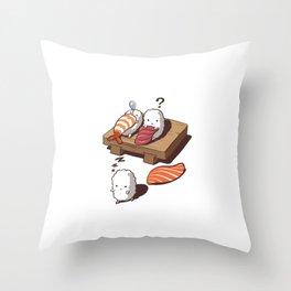 Funny Sleep Walking Sushi Japanese Foodie Throw Pillow