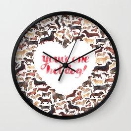 One Hot Dog Wall Clock