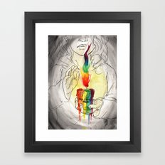 Keep being Proud. Framed Art Print