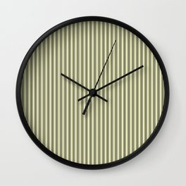 Trendy French Cream Mattress Ticking Black Double Stripes Wall Clock