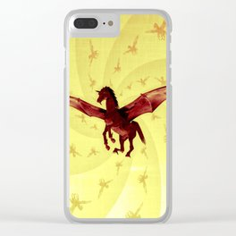 Demon Horse Clear iPhone Case