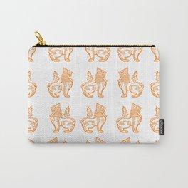 Orange Burmese Lion Carry-All Pouch