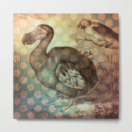 Dodo with Dots Metal Print