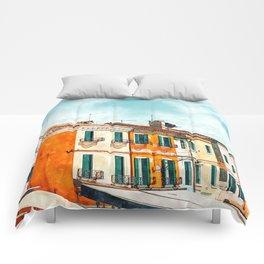 Burano Island #painting #digitalart #travel Comforters
