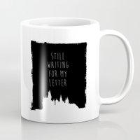 hogwarts Mugs featuring Hogwarts Letter by IA Apparel