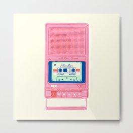 Vintage Tape Recorder – Hamilton cassette Metal Print