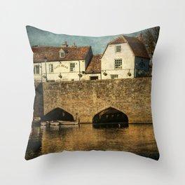 The Bridge At Abingdon Throw Pillow