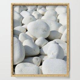White stones Serving Tray