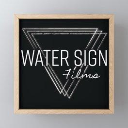 Water Sign Logo Framed Mini Art Print