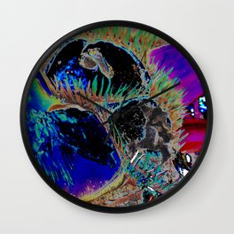 nature's blues, tropical plant study Wall Clock