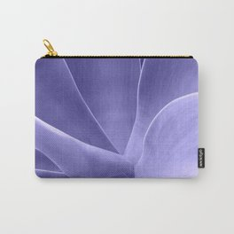 Periwinkle Succulent Carry-All Pouch