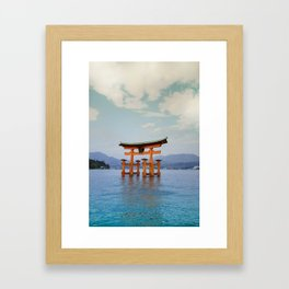 Itsukushima Torii Framed Art Print