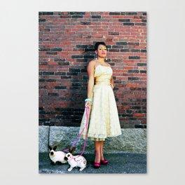 Rein It In - Rita Rabbit Canvas Print