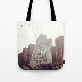 Birds Over Soho Tote Bag