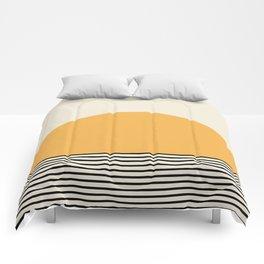 Sunrise / Sunset VI - Yellow & Black Comforters