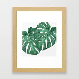 Monstera Leaf Painting Framed Art Print
