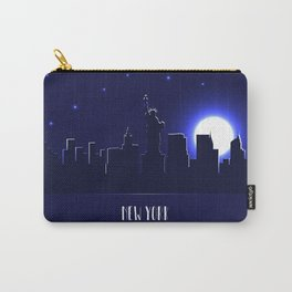 New York skyline silhouette at night Carry-All Pouch