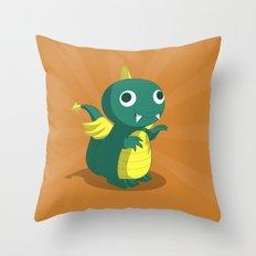 The Dino-zoo: Bat-saurus Throw Pillow