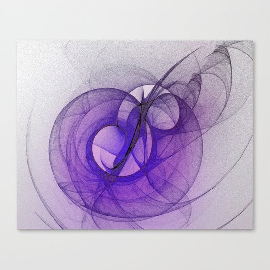Mystery purple abstract fractal Canvas Print