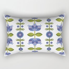 Blue Florals Rectangular Pillow