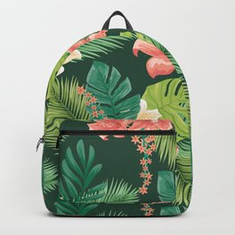 Kitschy Tropical Pattern Backpack