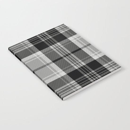 Black & White Tartan (var. 2)  Notebook