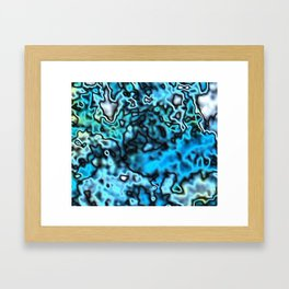 Strange Topography - Aqua Framed Art Print