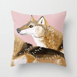 Totem Honshu Wolf Throw Pillow