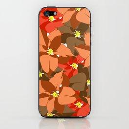 Poinsettia Love iPhone Skin