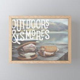 outdoors & S'mores Framed Mini Art Print