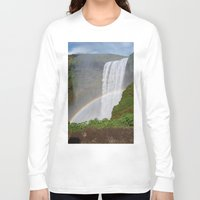 iceland Long Sleeve T-shirts featuring Skogafoss Iceland by seraphina