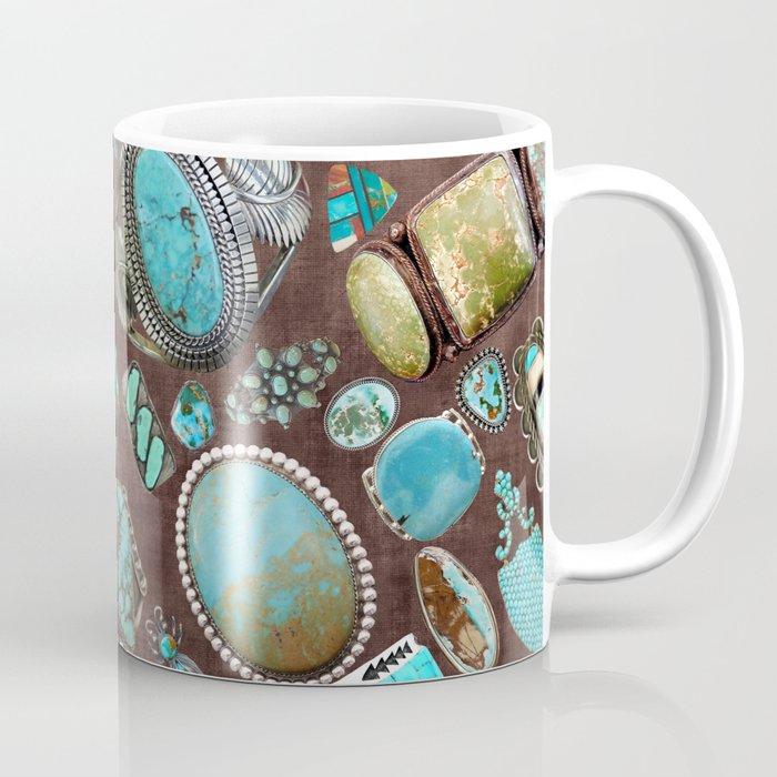 Vintage Navajo Turquoise stones Coffee Mug