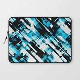 Hot blue and black digital art G253 Laptop Sleeve