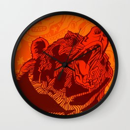 California Poster Wall Clock