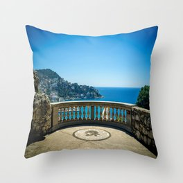 Chateau View in Nice Throw Pillow