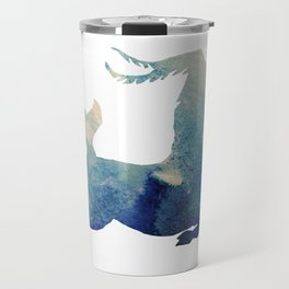 Watercolor Capricorn Sign Travel Mug