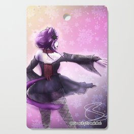 Liatris, Dramatic Goth Catlady Cutting Board