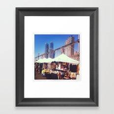 NYC Flea Market Framed Art Print