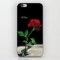 2pac iPhone & iPod Skins featuring The Rose that Grew from the Concrete by PeterPerlegas Fine Art