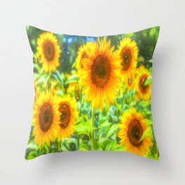 Dreams Of Sunflowers Throw Pillow