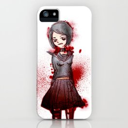 blood and school girl iPhone Case