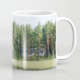 Cabin by the lake in Finland Coffee Mug
