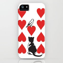 Clipped Wings Deck: The 9 of Hearts iPhone Case