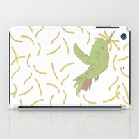 french fries iPad Cases featuring Bird eat French fries by pexkung