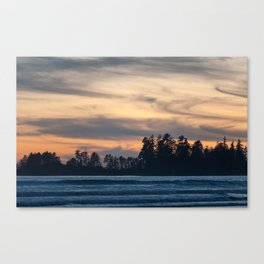 Coastal sunset, Tofino British Columbia Canvas Print