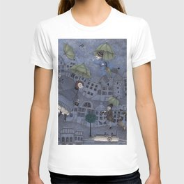 Monsieur Millet's Umbrellas T-shirt